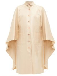 WILLIAM VINTAGE Hermès buttoned shell cape in beige