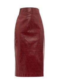 Burgundy Skirts | GUCCI High-rise leather pencil skirt