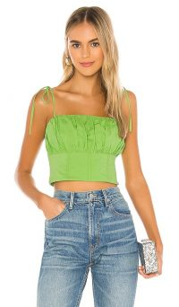 h:ours Kay Top Bright Green
