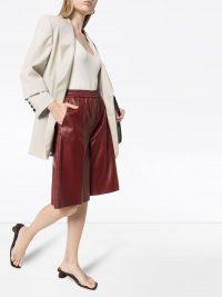 JOSEPH Tomy long shorts / leather fashion