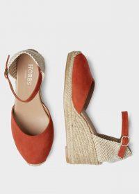 Hobbs JULIE ESPADRILLE Scarlet Red | ankle strap wedge heel espadrilles
