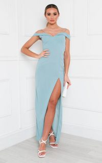Ikrush Kaitlyn Bodycon Maxi Dress in Jade
