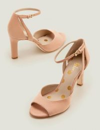 Boden Kathleen Heels – Fawn Rose ~ ankle strap shoes ~ delicate, pale colours