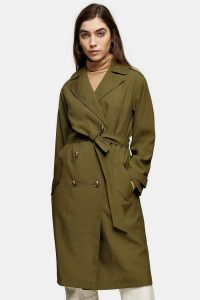 TOPSHOP Khaki Trench Coat