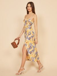 REFORMATION Kourtney Dress Terrazza ~ spaghetti strap summer dresses