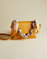 Ted Baker ELSY Leather cross body bag yellow ~ spring crossbody