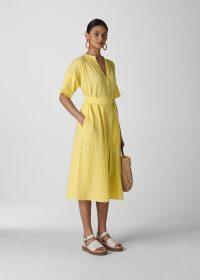 Whistles ALICIA TIE TEXTURED DRESS ~ summer dresses