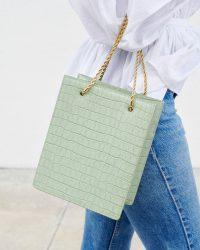 Loeffler Randal Antoinette Shopper Tote in pistachio green