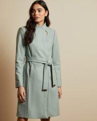 TED BAKER ELLGENC Long belted wrap coat mint