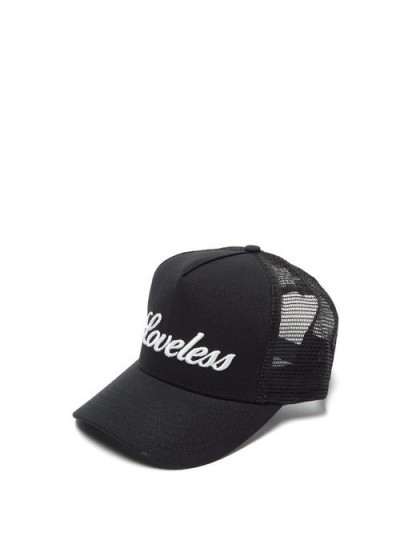AMIRI Loveless-embroidered black canvas cap