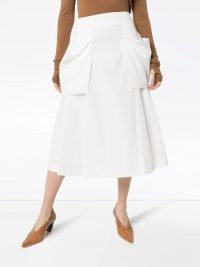LOW CLASSIC pocket-detailed pleated skirt | summer skirts