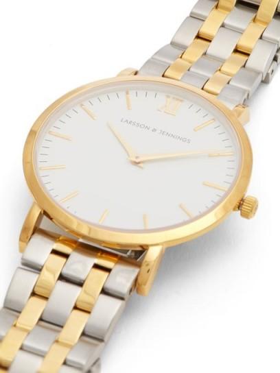 LARSSON & JENNINGS Lugano stainless-steel watch / men's gold-tone watches