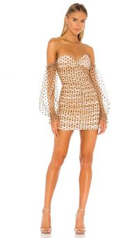 MAJORELLE Secret Lovers Dress Dark Nude