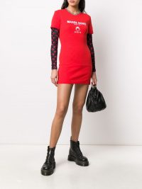 MARINE SERRE embroidered T-shirt dress