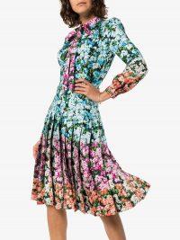 MARY KATRANTZOU Airmail floral print midi dress / lady-like dresses