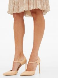 Mary Jane shoes – FRANCESCO RUSSO Mary-Jane pink-leather stiletto pumps