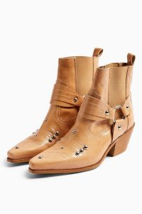 Topshop MEXICO Natural Western Boots
