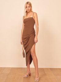 REFORMATION Mignon Dress Toffee