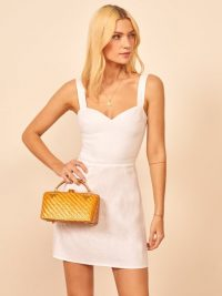 REFORMATION Miso Dress in White ~ perfect summer mini