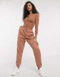 Missguided co-ord in tan – asos
