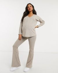 Missguided maternity ribbed co-ord ~ lounge sets