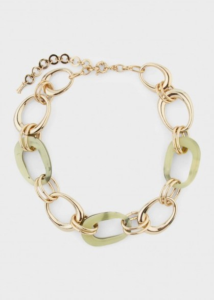 HOBBS MOLLY NECKLACE GREEN MULTI / modern statement jewellery - flipped