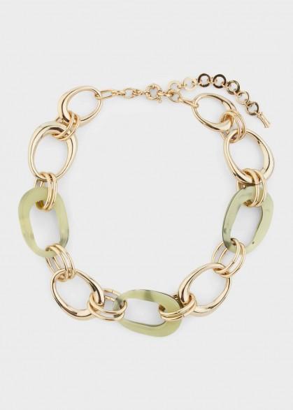 HOBBS MOLLY NECKLACE GREEN MULTI / modern statement jewellery