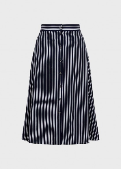 Hobbs MONROE SKIRT in Navy Ivory / striped casual A-line skirts