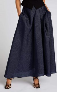 ROLAND MOURET MULLIGAN SKIRT Navy – voluminous skirts