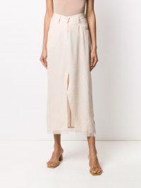 NANUSHKA Zefir high-waisted skirt in off-white