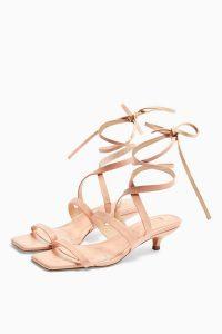 TOPSHOP NARLA Pink Strap Mini Heels