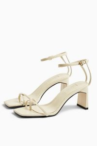 TOPSHOP NATURE Ecru Strappy Block Sandals