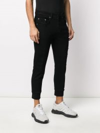 NEIL BARRETT cuffed skinny jeans / men's casual clothing