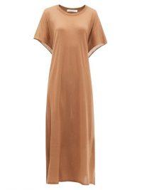 EXTREME CASHMERE No.139 Caftan tie-back cashmere maxi dress