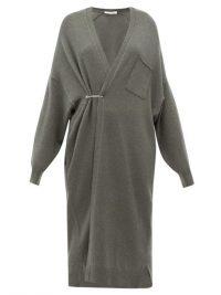 EXTREME CASHMERE No. 61 Koto longline stretch-cashmere cardigan in khaki
