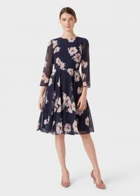 Hobbs NORAH DRESS in Midnight Blush / flower print fit and flare