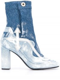 OFF-WHITE denim ankle boots