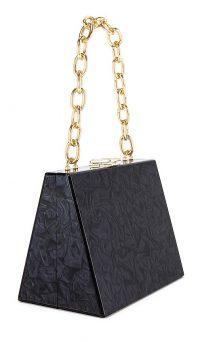 olga berg Emily Acrylic Bag in Black | chain link shoulder bags