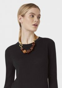 HOBBS OLIVE NECKLACE BROWN / statement necklaces