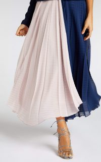 ROLAND MOURET ORVANA SKIRT Pink/Navy – skirts with swish