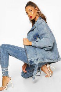 Overszied 80's Style Denim Jacket – 80s Fashion – boohoo