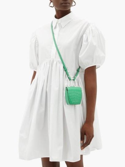 DANSE LENTE Pablo crocodile-effect green-leather cross-body bag ~ bright crossbody ~ mini bags