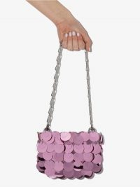 Paco Rabanne Pink Mini Sparkle 69 Shoulder Bag