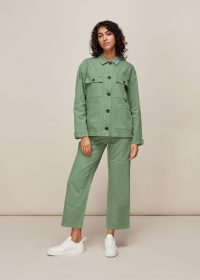 WHISTLES ULTIMATE CARGO TROUSER PALE GREEN