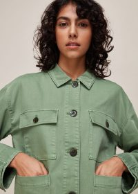 WHISTLES ULTIMATE UTILITY JACKET PALE GREEN