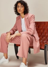 WHISTLES ALIZA TAILORED TROUSER PALE PINK – suit pants