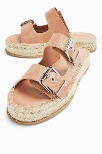 TOPSHOP PALM Taupe Espadrille Sandals / summer flats