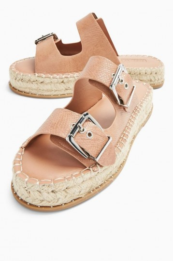 TOPSHOP PALM Taupe Espadrille Sandals / summer flats