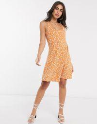 Festival Clothing Women – People Tree organic cotton skater dress in floral print – asos