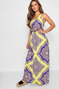 Women's Clothing Websites – Petite Neon Paisley Maxi Dress – boohoo
